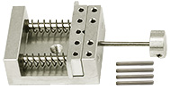 EM-Tec VS12 compact single action spring-loaded vise holder for up to 12mm, M4